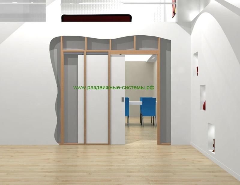 Раздвижная дверь задвигающаяся в стену